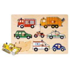Goki Vkladacie puzzle Doprava