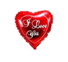 """GoDan Fóliový balón 18"""" Srdce """"I LOVE YOU"""" - červená"""