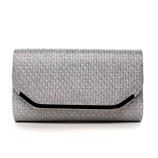 Michelle Moon Společenská třpytivá kabelka Kora, stříbrná