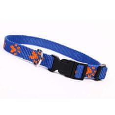 COBBYS PET Nyakörv paw motives 25mm/60cm -kék/narancssárga