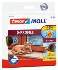 "Tesa Gumové těsnění ""tesamoll® D profil 5393"", hnědá, 9 mm x 6 m"