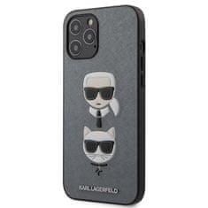 Karl Lagerfeld Karl Lagerfeld Saffiano K&C Heads Kryt pro iPhone 12 Pro Max 6.7 Silver
