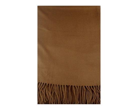 ORSI Zimní šála Virgin Wool 60x200 hnědá