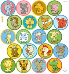 GEKONKY Veselé puntíky - 20 zvířátek
