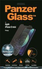 PanzerGlass Privacy zaščitno steklo za iPhone 12 Mini, črno