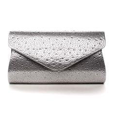 Michelle Moon Dámska listová kabelka s kamienkami Lyla, strieborná