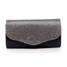 Michelle Moon Elegantná dámska listová kabelka s kamienkami Lex, čierna