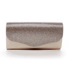 Michelle Moon Elegantní dámské psaníčko s kamínky Lex, růžově zlaté