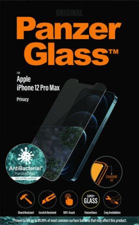PanzerGlass Privacy zaštitno staklo za iPhone 12 Pro Max, kaljeno, prozirno