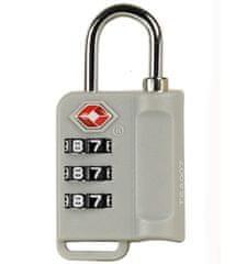 Rock Bezpečnostní TSA kódový zámek na zavazadla ROCK TA-0006 - stříbrná