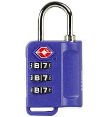 Rock Bezpečnostní TSA kódový zámek na zavazadla ROCK TA-0006 - modrá