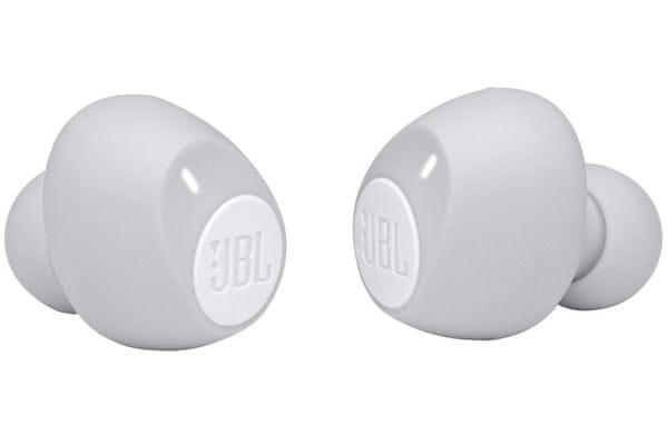 moderné Bluetooth slúchadlá jbl tune 115tws silný basový základ jbl pure bass bezdrôtová TWS 6 h výdrž na nabitie nabíjací box pre 2,5 plných nabití mikrofóny pre handsfree volanie fast pair ultrarýchle párovanie