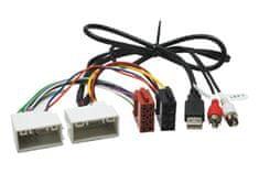 Saunika ISO redukcia pre autorádia - HYUNDAI / KIA (09->) s USB/AUX prepojením.