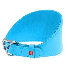 Wau Dog Obojok pre chrty kožený modrý