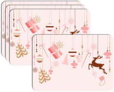 RoomDecor.eu Vianočné prestieranie-164, 4 Ks