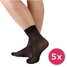 Evona 5 PACK - dámske ponožky Napolo 999 čierne