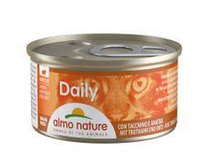 Almo Nature Daily Menu WET CAT kúsky s morkou a kačicou 24x85 g