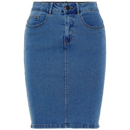 Vero Moda Spódnica Hot Dziewięć Hw DNM Pencil Skirt Mix Noos rednio Blue Denim (Rozmiar L)
