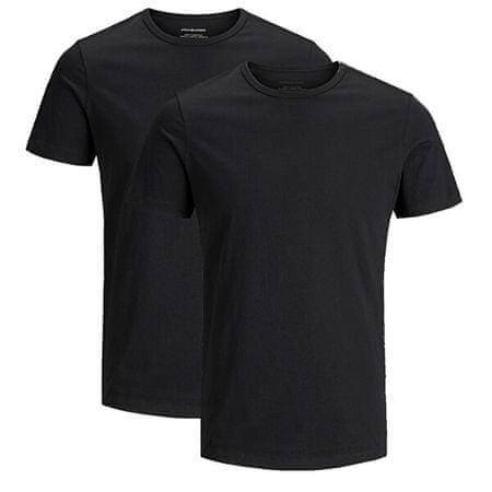 Jack&Jones 2 PACK - moška majica JACBASIC 12133913 črna (Velikost XL)
