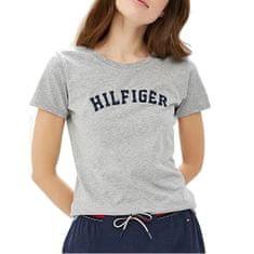 Tommy Hilfiger Koszulka damska Cotton Icon ic Logo SS Tee Print UW0UW00091 -004 Grey Heather