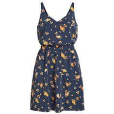 VILA Dámské šaty Laia S/L V-neck Dress-Fav Lux Navy Blazer
