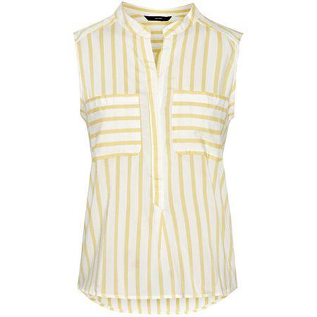 Vero Moda Damska koszulka w Stripe Erika S / L Color Śnieg White / Yarrow (Rozmiar XS)