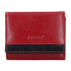 Lagen Dámska kožená peňaženka BLC-160231 Red/Blk