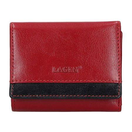 Lagen Ženska usnjena denarnica BLC-160231 Rdeča / Blk