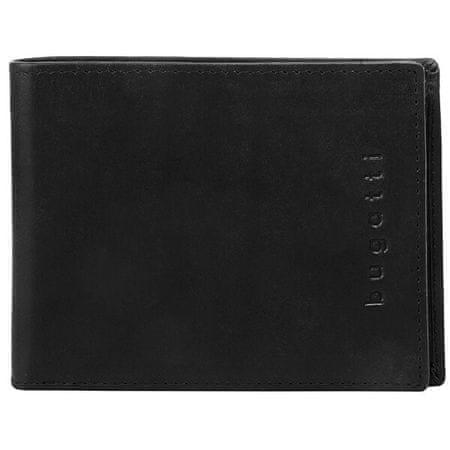 Bugatti Moška usnjena denarnica Romano 49399401 Črna