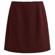 VILA Dámska sukňa Violao NEW MINI SKIRT Tawny Port