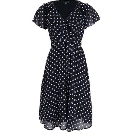 Smashed Lemon Ženska obleka 20073 Black / bela (Velikost L)