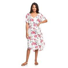 Roxy Dámské šaty Flamingo Shades Snow White Tropic Call ERJWD03428-WBK7