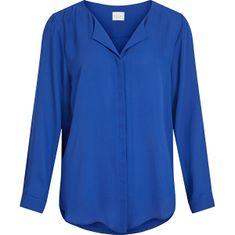 VILA Dámská košile Straight Fit VILUCY 14044253 Mazarine Blue