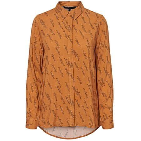 Vero Moda Ženska majica VMGUNHILD LS SHIRT WVN GA Meerkat AOP.GUNHILD (Velikost S)