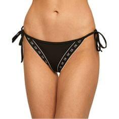 Calvin Klein Plavkové nohavičky Cheeky String Side Tie KW0KW00946-BEH PVH Black