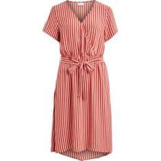 VILA Dámske šaty VIPRIMERA WRAP S / S DRESS-FAV LUX Dust y Cedar SNOW WHITE strieb 1.0 * 0.4