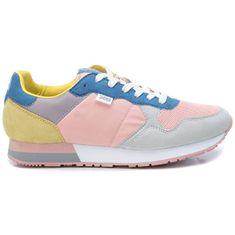 XTI Dámské tenisky Pink-Grey Textile Ladies Shoes 49820 Pink-Grey