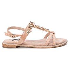 XTI Dámske sandále Nude Microfiber Ladies Sandals 49938 Nude