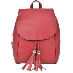 Sofia Cardoni Dámsky kožený batoh AW19SC1418 Rosso
