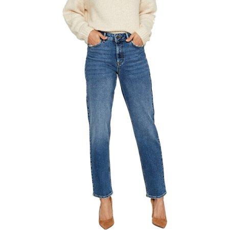 Vero Moda Ženske sproščene kavbojke naravnega kroja VMSARA 10217406 Srednje Blue Denim (Velikost 26/30)