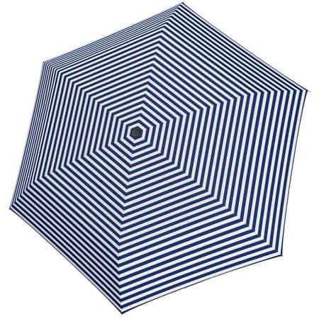 Tamaris Damskiskładany parasol TambrellaLight Stripe blue