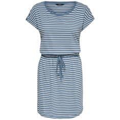 ONLY Dámské šaty ONLMAY 15153021 Blue Mirage THIN STRIPE CLOUD DANCER