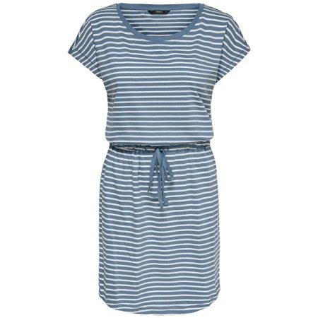 ONLY Ženska obleka ONLMAY 15153021 Blue Mirage THIN STRIPE CLOUD DANCE R (Velikost XL)