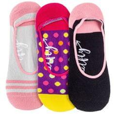 MEATFLY 3 PACK - dámské ponožky Low socks S19 N/Pink