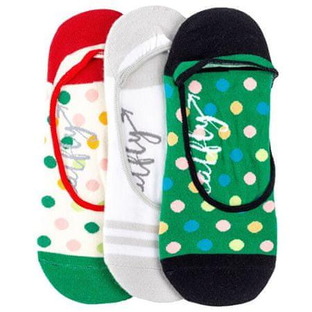 MEATFLY 3 PACK - Low socks S19 K/Green női zokni