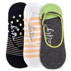 MEATFLY 3 PACK - dámské ponožky Low socks S19 H/Anthracite