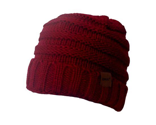 ORSI Zimní čepice pletená vínová