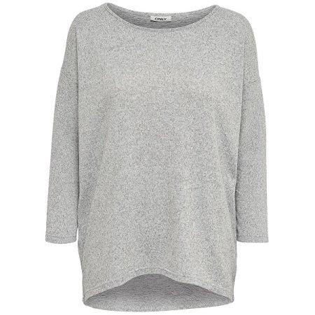 ONLY Női póló ONLELCOS 15124402 Light grey Melange (Méret XL)