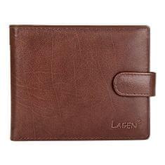 Lagen Pánska kožená peňaženka E-1036 BRN