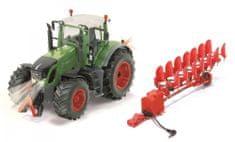 SIKU Fendt 939 Control limitált kiadású traktor + váltvaforgató eke, 1:32